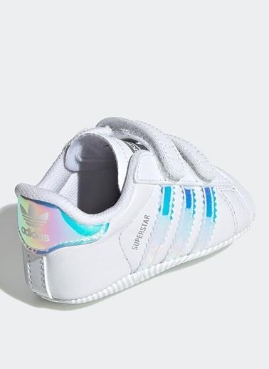 adidas adidas BD8000 Superstar Crib Yürüyüş Ayakkabısı Beyaz